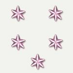 Pack de 30 strass flocon de neige Rose